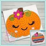Sleepy Pumpkin Applique, Applique