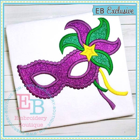 New Mardi Gras Mask Applique, Applique
