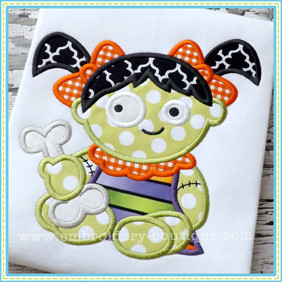 Baby Girl Zombie Applique - embroidery-boutique