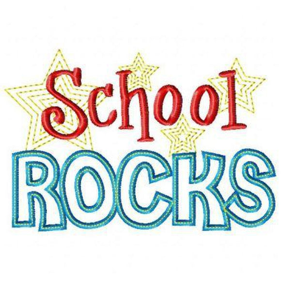 School Rocks - embroidery-boutique