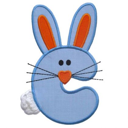 Bunny Applique Alphabet - embroidery-boutique