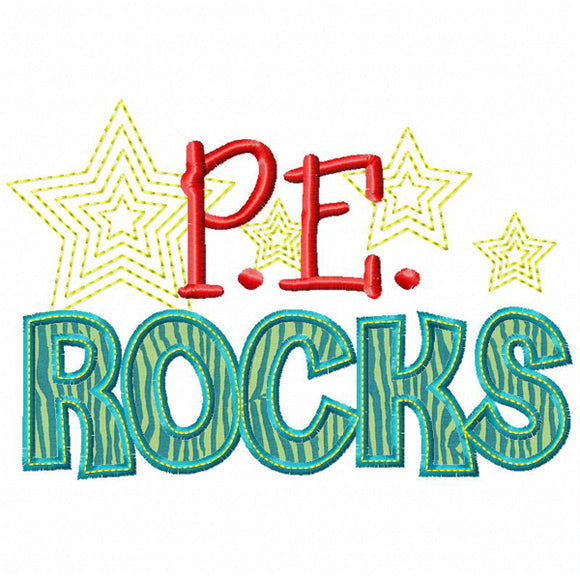 PE Rocks Applique, Applique