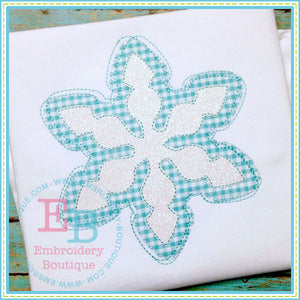 Scribble Snowflake 2 Applique, Applique