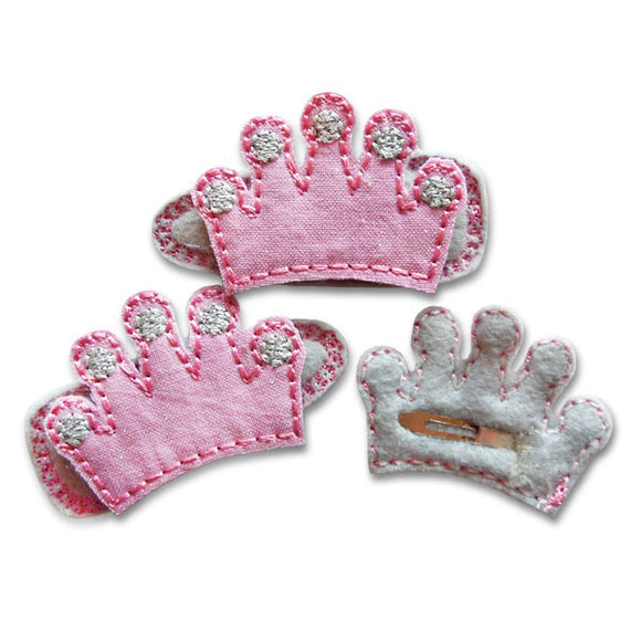 Princess Crown Clip Centers, Hair Clip Centers
