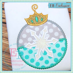 Snowflake Ornament Applique, Applique