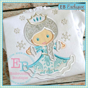 Winter Princess Applique - embroidery-boutique