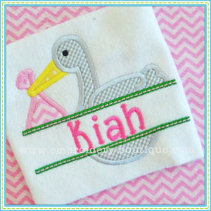 Split Stork Applique, Applique