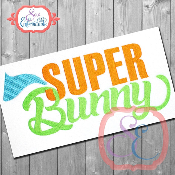 Super Bunny Embroidery Design - embroidery-boutique