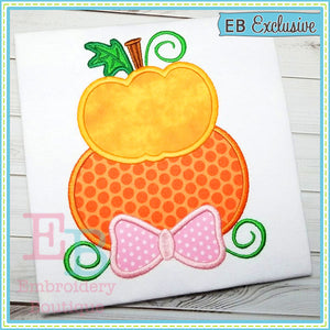Stacked Pumpkins Applique