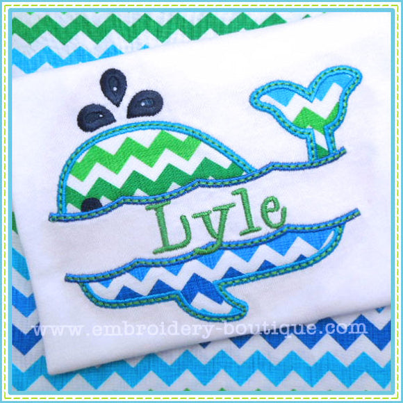 Split Whale Applique - embroidery-boutique
