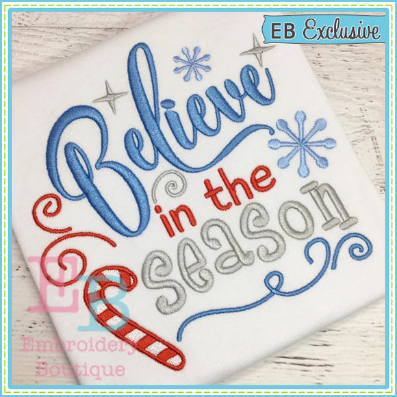 Believe in Season Design, Embroidery