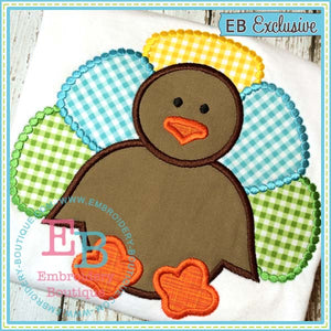 Dotted Turkey Boy Applique - embroidery-boutique