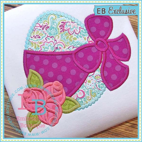 Egg Roses Applique - embroidery-boutique
