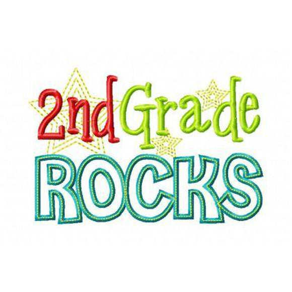 Second Grade Rocks - embroidery-boutique