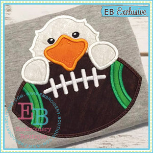 Football Eagle Boy Applique, Applique