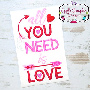 All You Need is Love Applique Design, applique