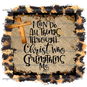 I can do all things through Christ Printable Design PNG-Embroidery Boutique