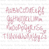 Always Forever Floss Stitch Embroidery Font