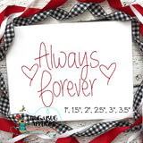 Always Forever Floss Stitch Embroidery Font-Embroidery Boutique