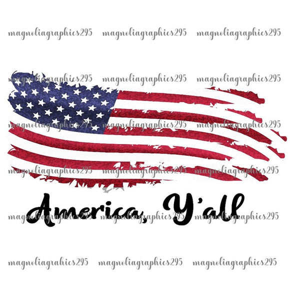 American Flag Printable Design PNG, Printable