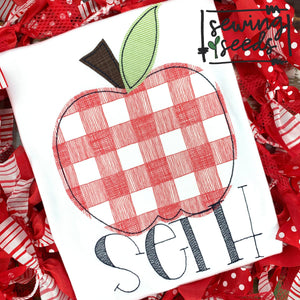 School Apple Applique SS - Sewing Seeds