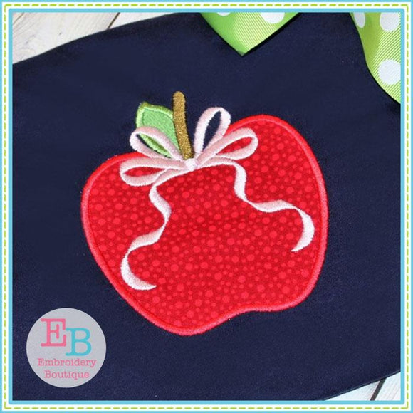 Apple Bow 2 Applique - Embroidery Boutique
