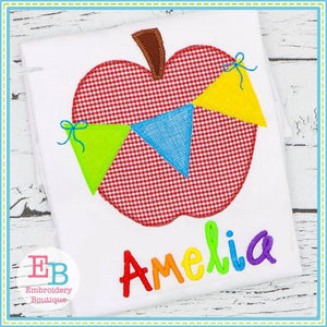 Apple Bunting Applique