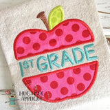 Apple First Grade Applique Design, Applique