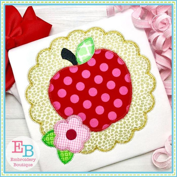 Apple Scallop Zigzag Applique
