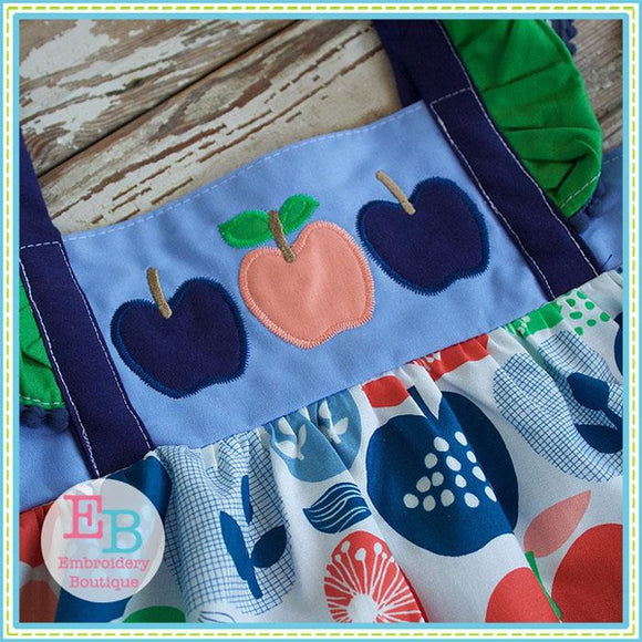 apple trio vintage applique