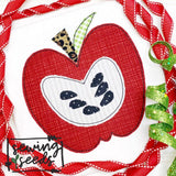 Apple with Seeds Applique SS - Sewing Seeds