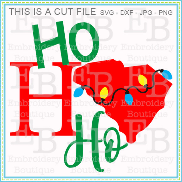 Ho Ho Ho South Carolina SVG