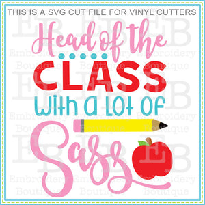 Head of Class SVG - embroidery-boutique