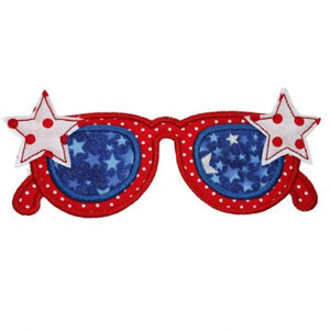 Star Sunglasses Applique - embroidery-boutique