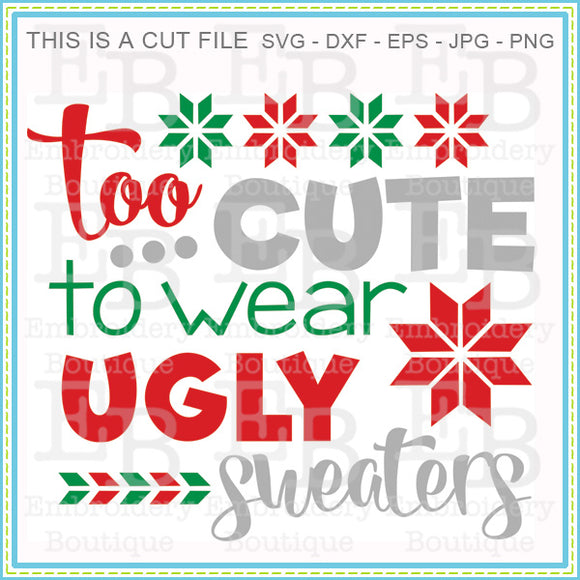 Ugly Sweater SVG - embroidery-boutique