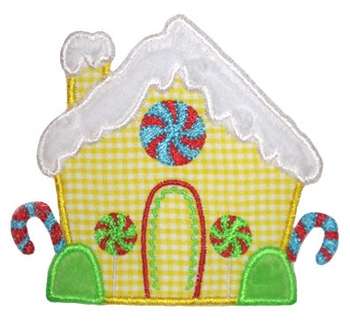 Gingerbread House Applique - embroidery-boutique