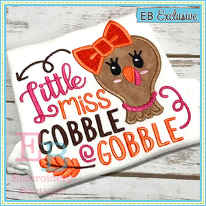 Miss Gobble Applique