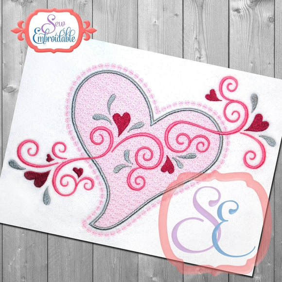 Motif Heart Swirls Embroidery Design - embroidery-boutique