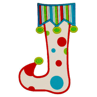 Elf Stocking Applique - embroidery-boutique