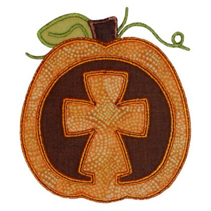 Cross Pumpkin - embroidery-boutique