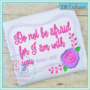 Do Not Be Afraid Design - embroidery-boutique