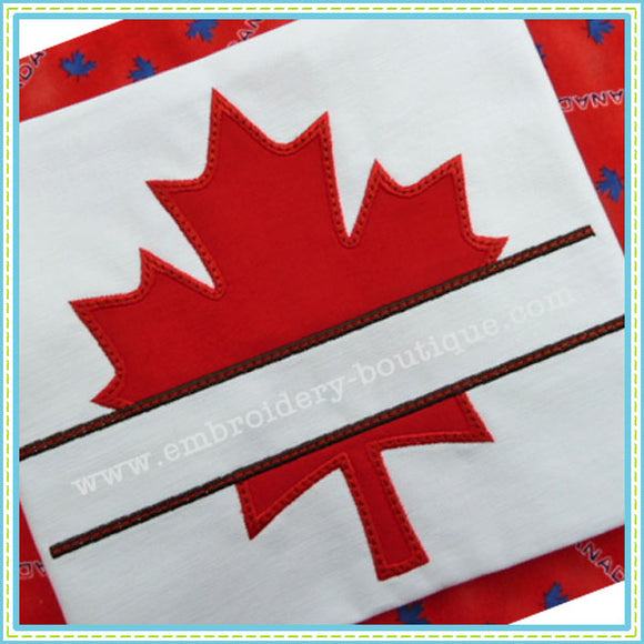 Split Maple Leaf Applique - embroidery-boutique