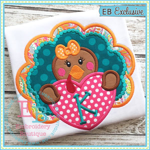 Turkey Heart Applique - embroidery-boutique