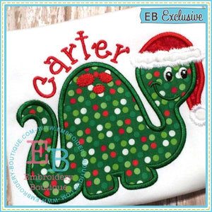 Christmas Dino Applique