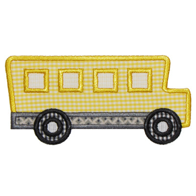 School Bus Applique - embroidery-boutique
