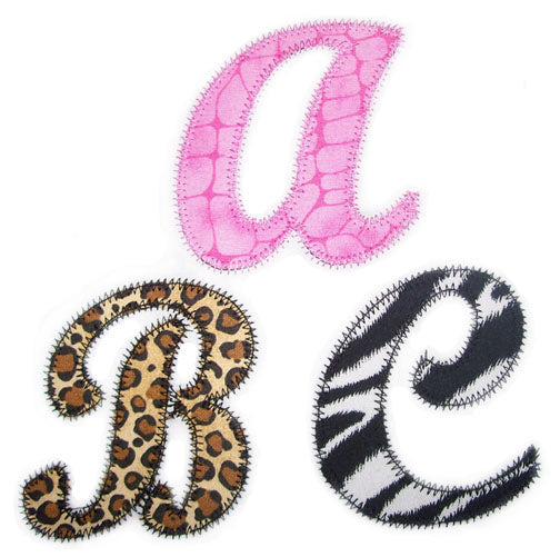 Zig Zag Alli Applique Alphabet - embroidery-boutique