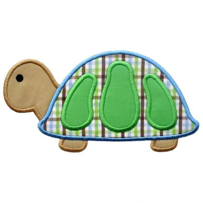 Boy Turtle Applique - embroidery-boutique