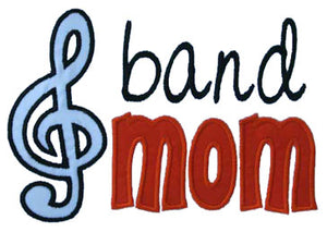 Band Mom Applique - embroidery-boutique