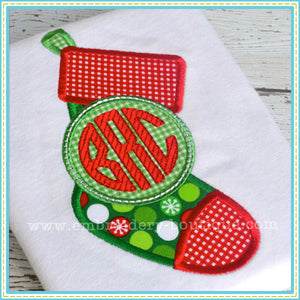 Monogram Stocking Applique, Applique