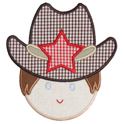 Cowboy Applique - embroidery-boutique